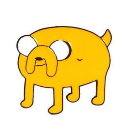 Значок металл Пин Adventure Time Финн и Джейк - Джейк (Размер О - 3 х 2,5