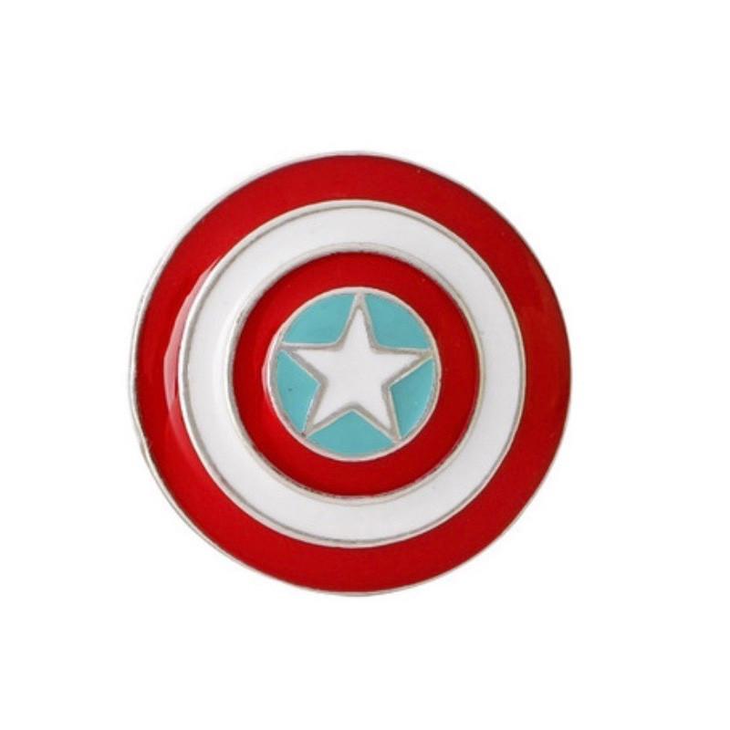 Значок металл Пин Marvel Капитан Америка большой щит (Размер О - 3,5 х 3,5)