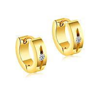 Мужские серьги-кольца бижутерия из нержавеющей ювелирной стали Amanite Gold 187080