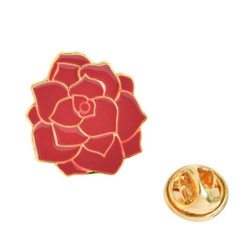 Значок металл Пин Цветы Роза  (Размер М - 2 х 2)