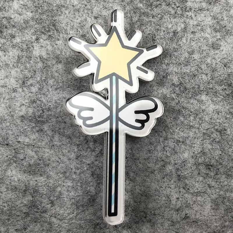 Значок пластик Пин Волшебная палочка Феи