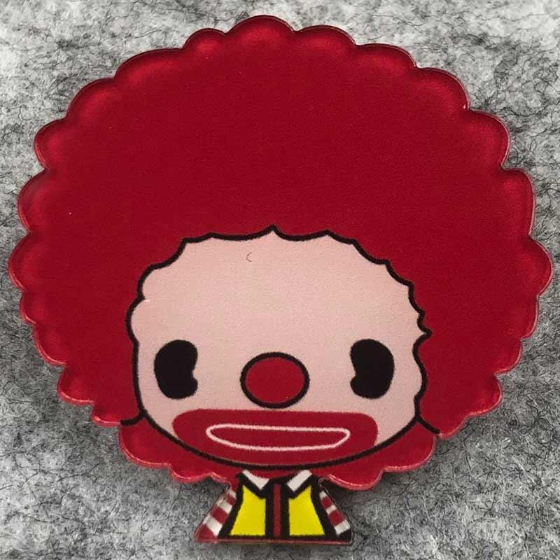 Значок пластик Пин McDonalds Клоун