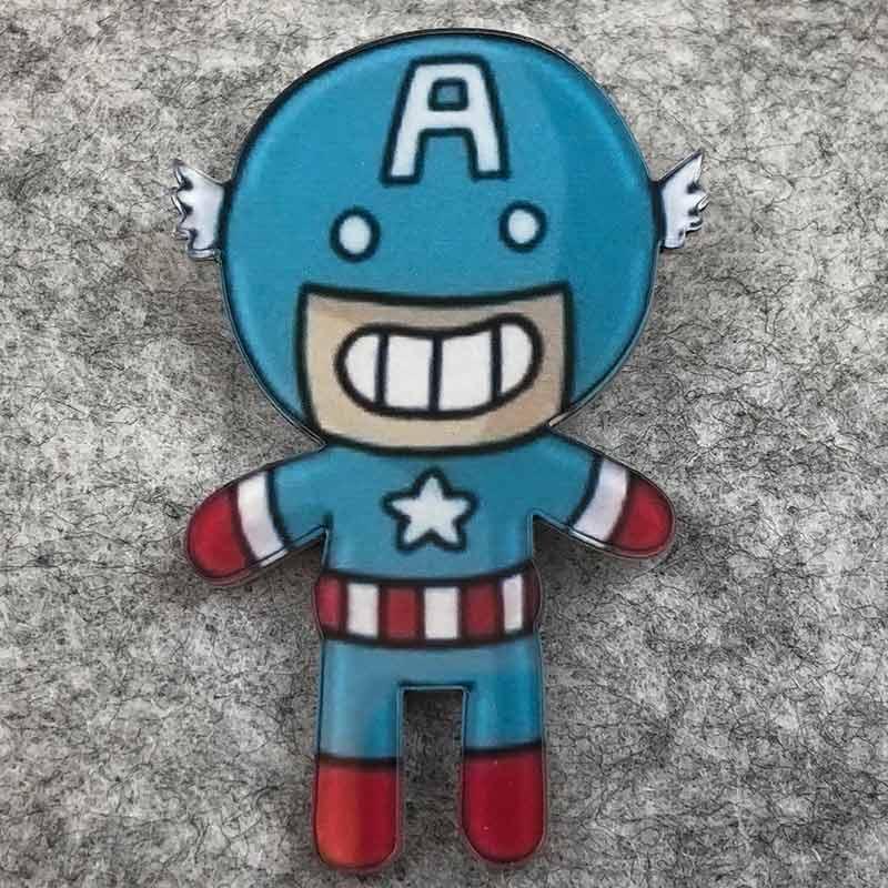 Значок пластик Пин Marvel Capitan America Капитан Америка