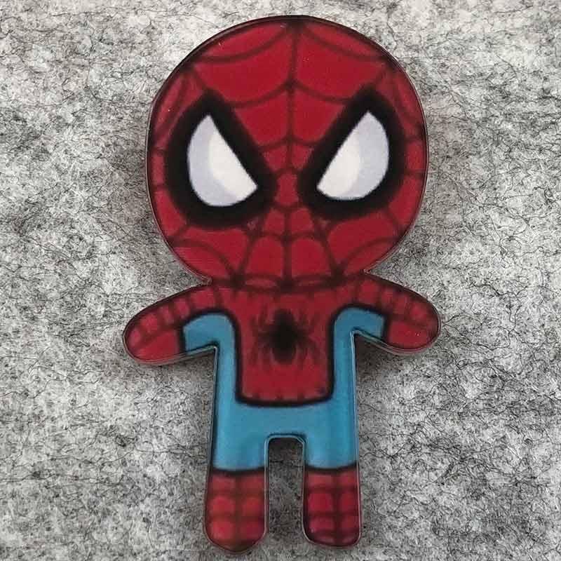 Значок пластик Пин Marvel Spider Man Человек Паук