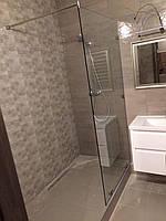 Стеклянные перегородки в душ