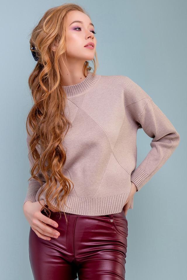 Жіночий вільний светр, кавовий, широкий, повсякденний, молодіжний, джемпер