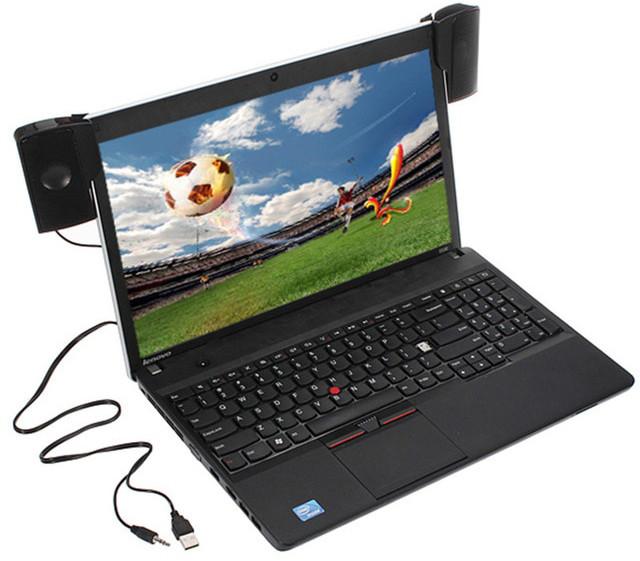 Колонки USB для ноутбука на клипсах/прищепках
