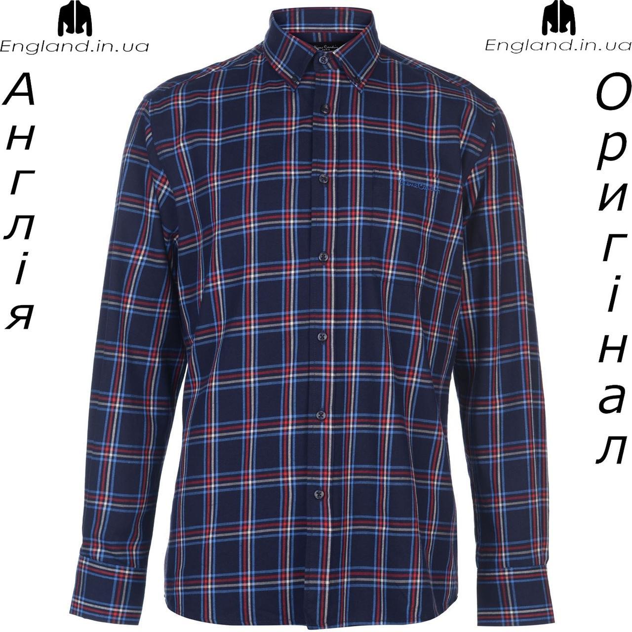 Рубашка в клетку мужская Pierre Cardin из Англии - на длинный рукав