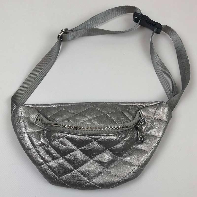 Поясная сумка (Бананка) МК-1189 Италия серебро