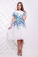 Синие цветы платье Мияна к/р, фото 1
