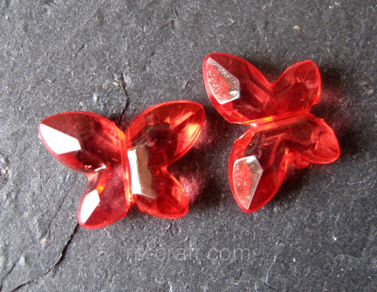 Бусина акриловая, бабочка, 11х15 мм
