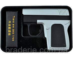 Электроимпульсная USB зажигалка пистолет 4367, фото 2