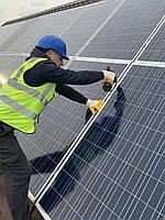 Установка солнечной электростанции (солнечные панели)