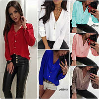 Модная Женская Блуза Рубашка Софт! 6 ЦВЕТОВ!