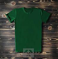 Мужская футболка зеленого цвета