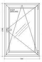 Окно металлопластиковое 800*1200 мм