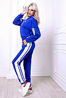 Костюм спортивный с широкими лампасами и карманами на брюках