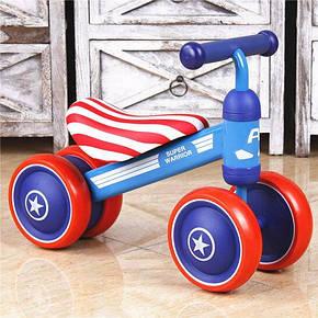 Беговел Luddy Mini Bike Капітан Америка блакитний, фото 2