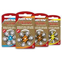 Батарейки для слуховых аппаратов Rayovac Peak, Британия