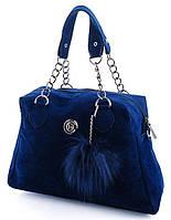 Женская синяя сумка из кожзама DAVID POLO 670