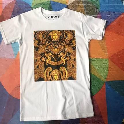 Белая футболка Versace Golden Pic. • Все размеры, Бирки, фото 2