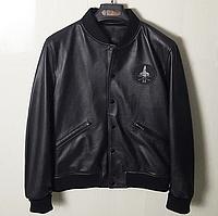 Шкіряна чоловіча куртка на манжетах.Коротка куртка з натуральної шкіри.( 11348)
