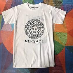Белая футболка Versace Black Face • Бирки Ориг • Качество топ