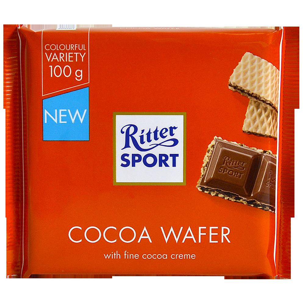 Шоколад Ritter Sport Cocoa Wafer молочный с начинкой вафли и какао 100г (1уп/10шт)