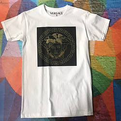 Белая футболка Versace Gold & Black • Бирки ориг • Качество топ