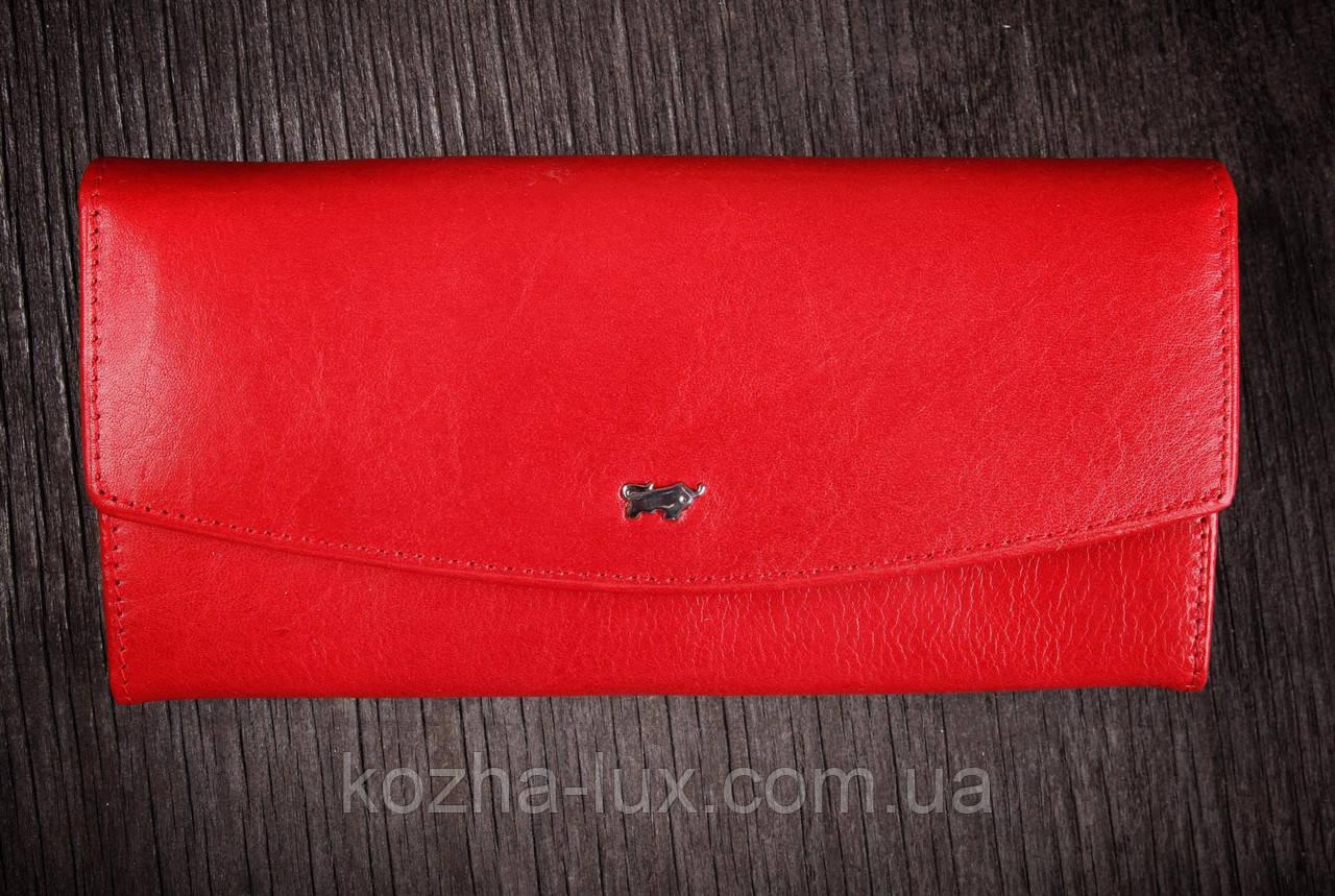 Кошелек женский кожаный красный, Braun Buffel без металла, натуральная кожа