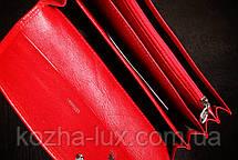 Кошелек красный, Braun Buffel без металла, натуральная кожа, фото 3