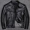 Чоловіча куртка з натуральної шкіри чорна. ( 01349 )