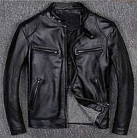 Чоловіча куртка з натуральної шкіри чорна. ( 01349 ), фото 1