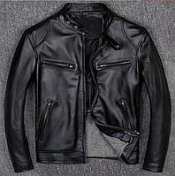 Мужская куртка из натуральной кожи черная. ( 01349 ), фото 1