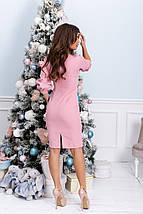 """Элегантное платье-футляр """"Adalin"""" с четвертным рукавом (2 цвета), фото 2"""