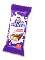 """Конфеты вафельные Milla с молочу.начинк. в шоколаде к/у, 1/1,3 кг,270 суток,ТМ """"Chocoboom"""""""