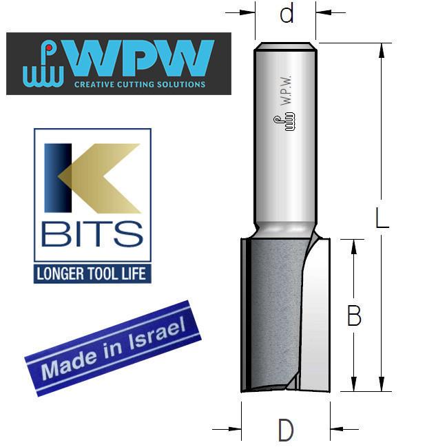Фреза пазовая двухзубая D12 B42 d8 K-BITS P271205K