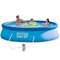Надувной бассейн Intex 28142 - 4, 396 х 84 см (насос-фильтр 3 785 л/ч, подстилка, тент, насос), фото 1