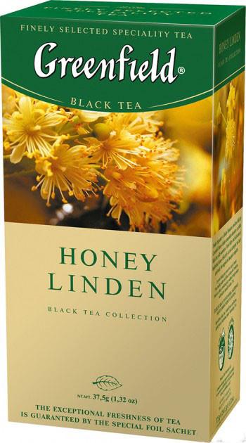 Чай черный с липой Greenfield Honey Linden 25 пак.