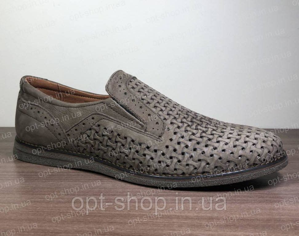 Туфли мужские кожаные летние
