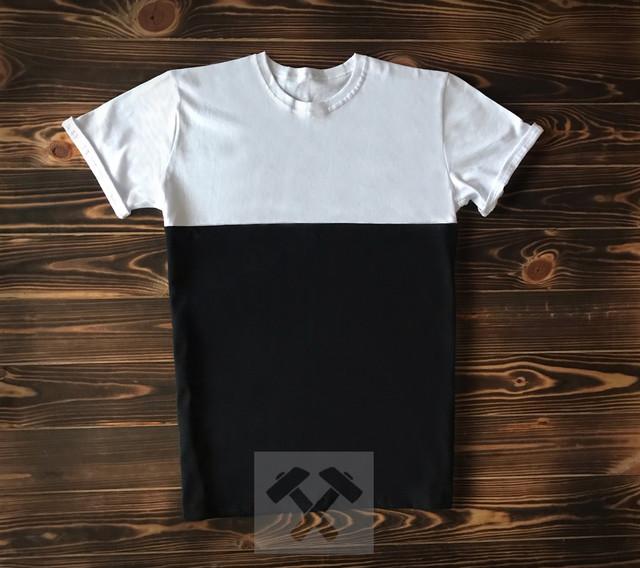 Черно белая футболка фото