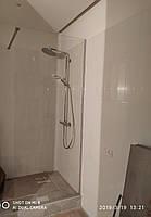 Стеклянная перегородка в душ, каленое стекло 8мм