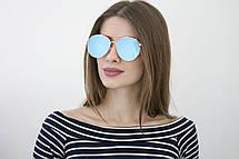 Женские очки 2018 (8308-3) голубая линза, фото 3