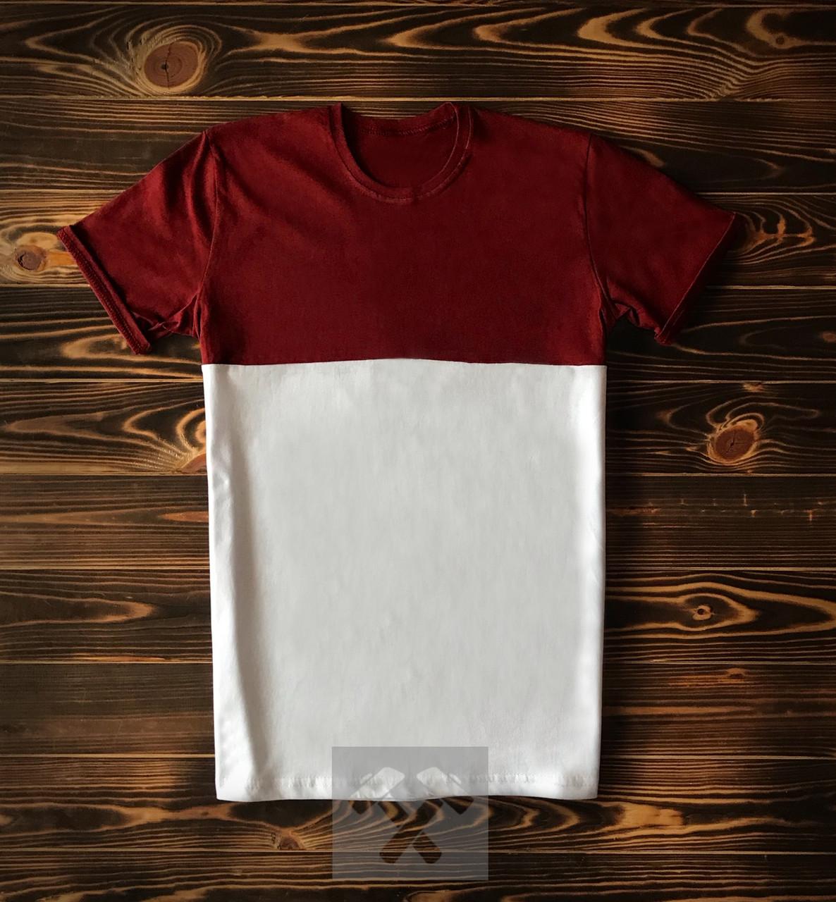 Красно белая футболка