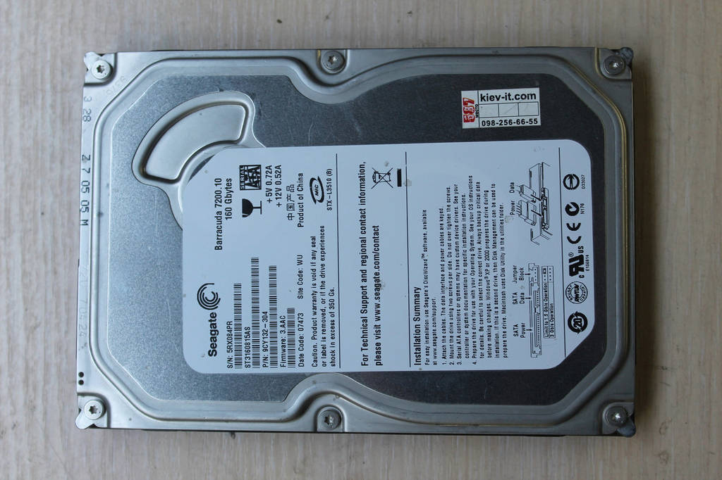 "Жесткий диск Seagate ST3160815AS 160GB 3.5"" Б\У"