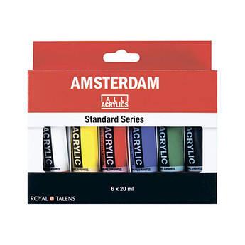 Набор акриловых красок, AMSTERDAM STANDARD, 6*20 мл, Royal Talens