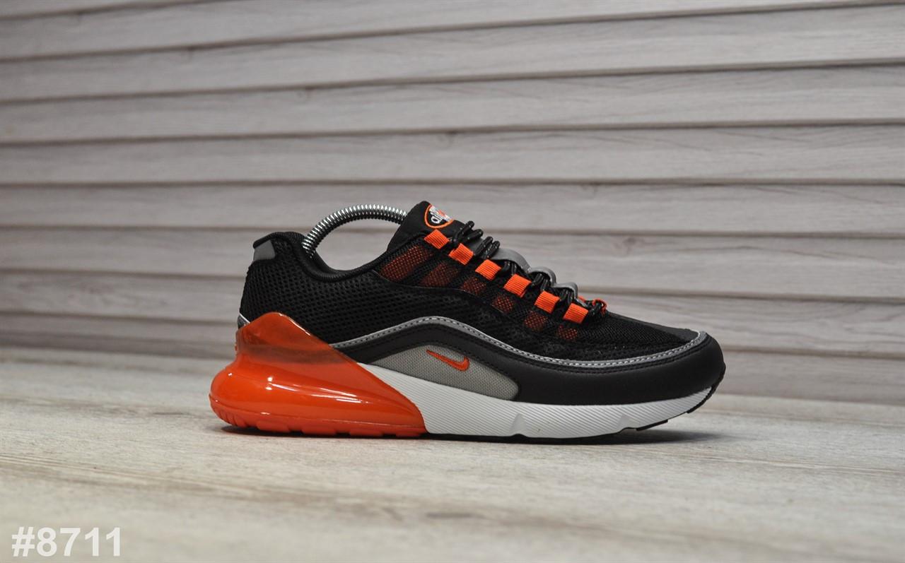 Мужские кроссовки Nike Air Max Hybrid 270/97 Black Gray. Воздушный балон Air Max