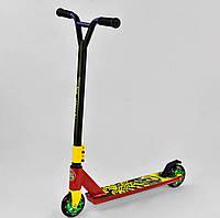 Трюковый самокат Best Scooter, алюминиевый диск, красный, фото 1