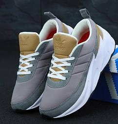 Женские кроссовки Adidas Shark Grey black. Живое фото. Реплика
