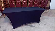 Стрейч чехол на Стол 180х90/75 из Стрейч ткани с Плотными карманами на ножки, фото 3